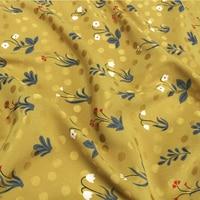 Heavier silk fabric stretch jacquard silk fabric floral on yellow bottom,SFF130
