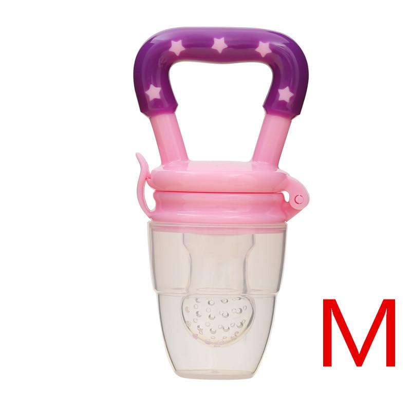 Детская соска для свежего питания, соска для кормления детей, соска для кормления фруктов, безопасные соска, бутылочки - Цвет: purpleM