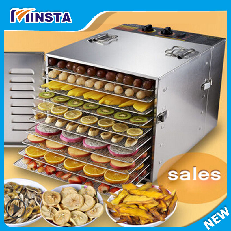 Free shipping fruit tray dryer Dry fruits vegetables commercial 10 Tray Stainless Steel Food Jerky Fruit Dehydrator dryer виниловые пластинки death cab for cutie kintsugi 2lp cd 180 gram