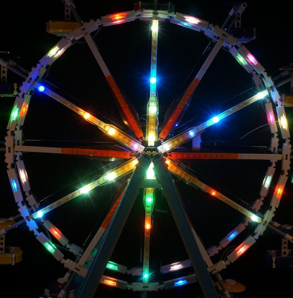 LED Light Kit For City Street Ferris Wheel Building Blocks Lighting Set Compatible With Lego 10247