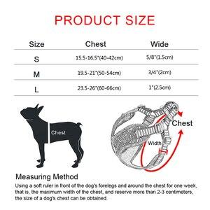 Image 5 - No tirare Sport Riflettente Cane Finimenti Per Medium Large Cani Pitbull Bulldog Cane Allaperto Formazione Walking Imbracature di Sicurezza Della Maglia