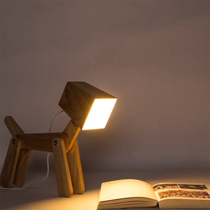 Creative Wooden Table Lamps Touch 3 Levels Dimmable Bedroom Lamp Art Reading Lampe Table Bedside Lamp Table-Light for Children стоимость