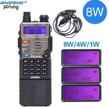 BAOFENG Walkie Talkie potente UV 5RE, 8W, 3800mAh, 10km de largo alcance, banda uhf vhf, radio cb ham portátil, actualización de UV5RE para senderismo