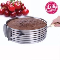 Stainless Steel Cake Ring Adjustable Cutter Cake Pastry Mould Baking&pastry Tool Extendable Round Slicing Cake Ring Cutters