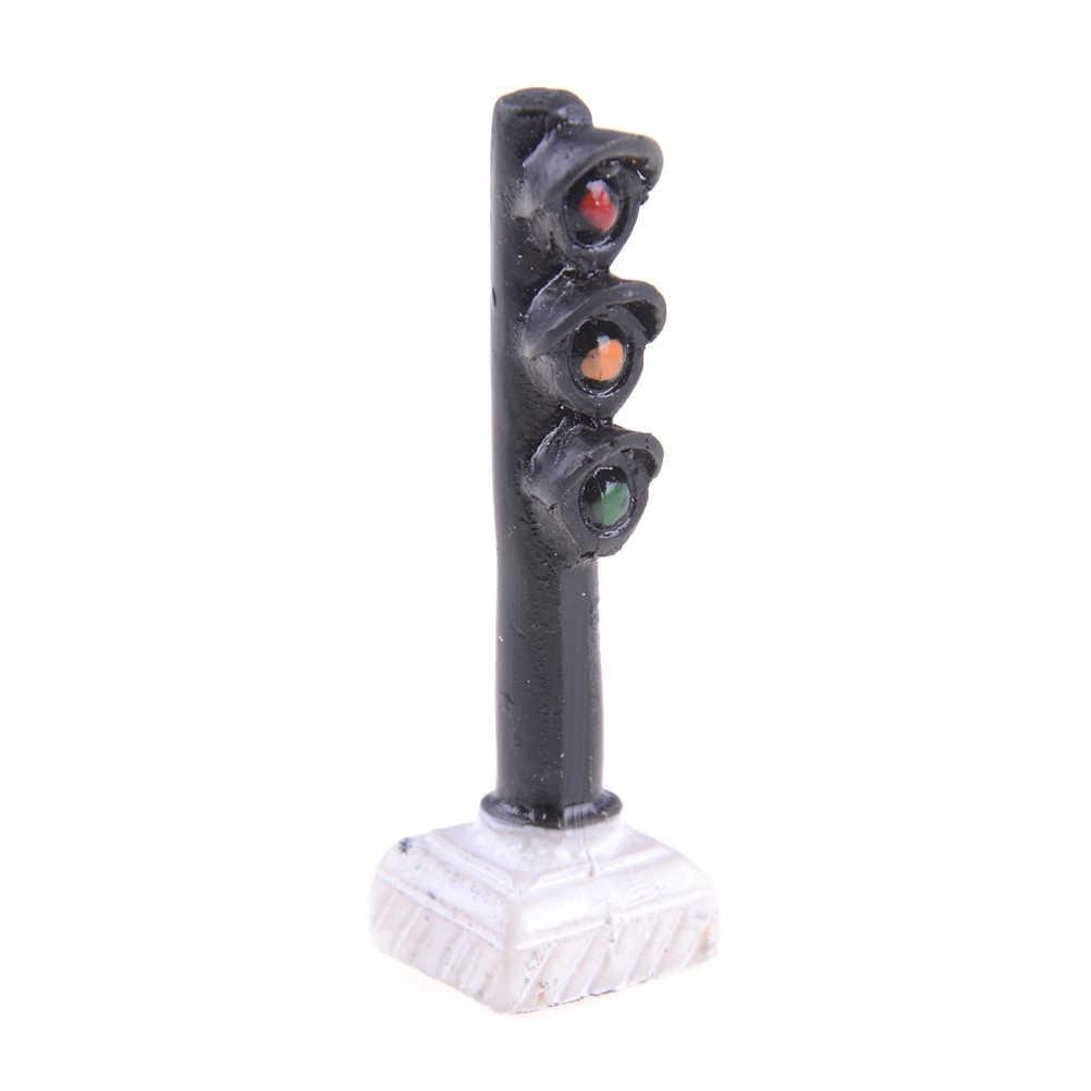 Luz de señal de tráfico, escala HO OO, modelo de cruce de vías de ferrocarril, luces de calle Led, modelado ferroviario