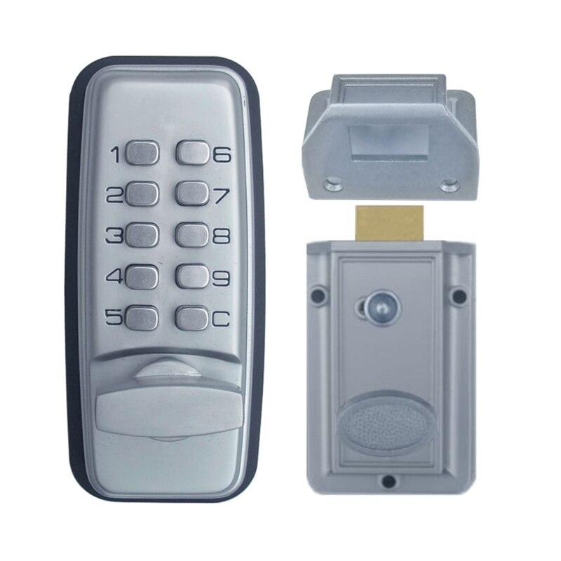 Serrure à Code mécanique machines numériques clavier mot de passe entrée serrure de porte en acier inoxydable alliage de Zinc argent 1705