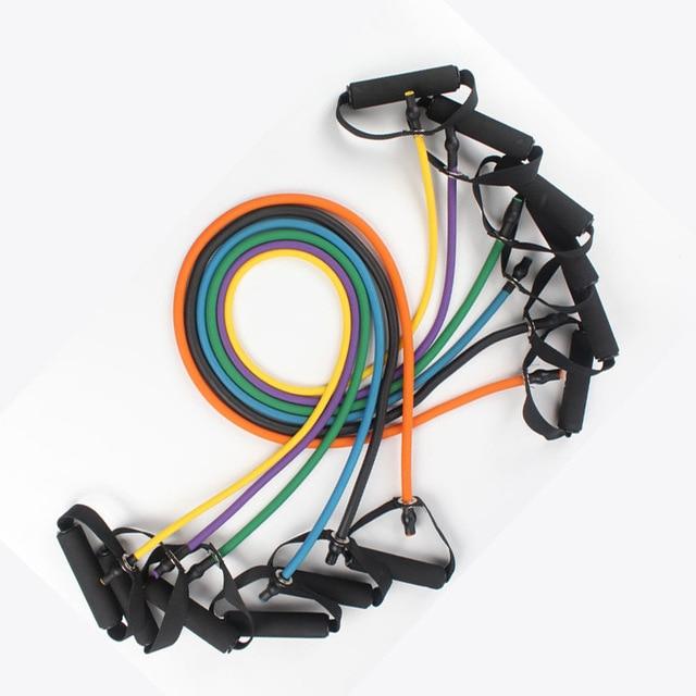 120cm Yoga Pull Rope Elastic Rope Crossfit Set Multifunctional Training Equipment Rubber Band Belt Gym Equipment TPR