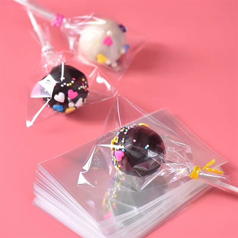Transparent Plastic Bags Wedding Lollipop Party Gift Bag For Candy  Cookie Packaging 100PCS/Lot Opp Cellophane Bag