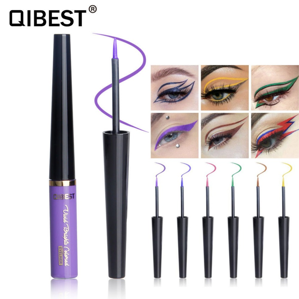 Qibest Newest Eye Makeup Matte Liquid Eyeliner Waterproof Shimmer Glitter Eye Liner Long-lasting Eye Shadow Pen Pencil Cosmetics