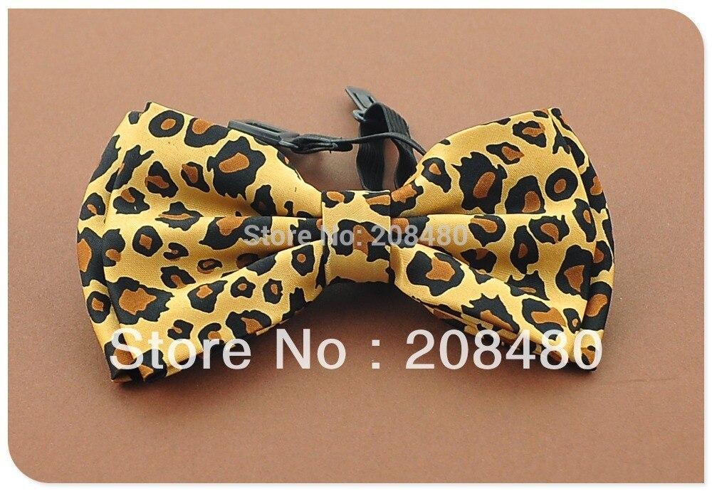 "Fashion Men`s Unisex Tuxedo Dress Bow tie ""Leopard"" #1 pattern Bowtie for Women Retail & Wholesale"