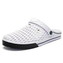 Summer Men  Slippers Beach shoes Flat Casual Hollow Flip Flops Sandals Outdoor men Light Weight soft JINBEILE