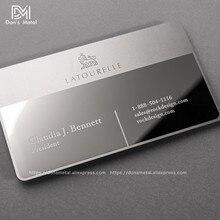 Metalowa wizytówka metalowa karta członkowska design lustro metalowa wizytówka wysokiej jakości karta lustrzana stal nierdzewna na zamówienie busine