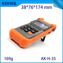 SZOMK new product  hot selling handheld control housing case  with battery box for PCB broad  10 psc a lot 178*92*43 mm