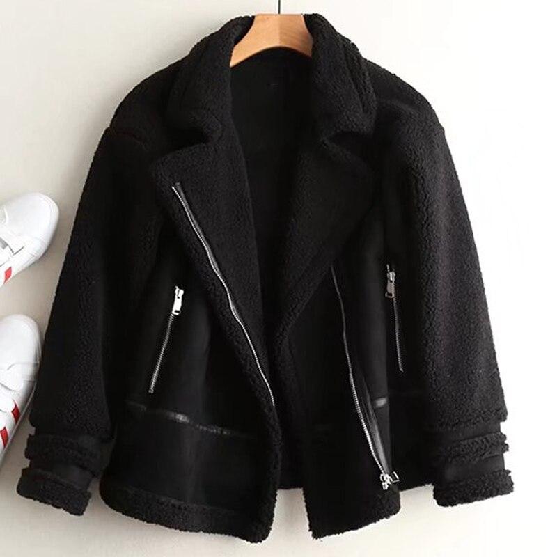 Chine En Femme Fausse Pardessus Importé Cuir Livraison Gratuite Streetwear 2019 Noir Manteaux Fourrure Chaud Femelle Femmes La Vestes A425 De Vintage A 7gbf6y