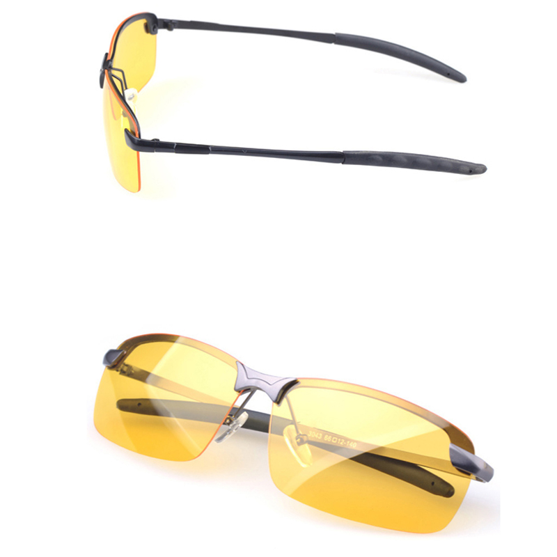 Image 4 - Day Night Vision Men's Polarized Sunglasses Anti Glaring Night Driving Sunglasses Yellow Lens Eyewear Fashion Glasses-in Driver Goggles from Automobiles & Motorcycles
