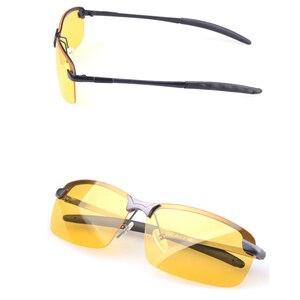 Image 4 - Dia visão noturna óculos de sol polarizados masculinos anti glaring noite condução óculos de sol amarelo lente óculos de moda