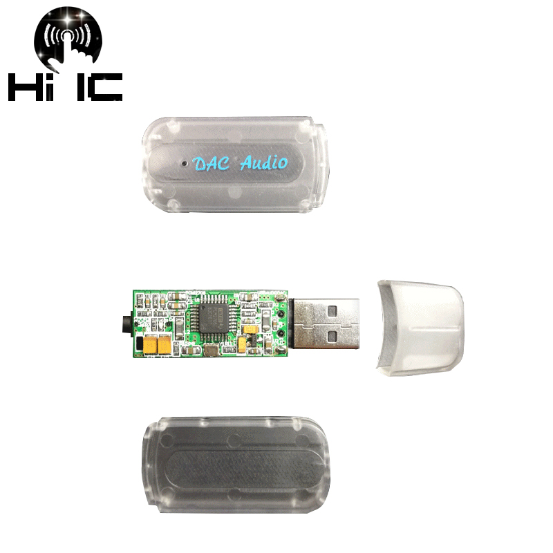 PCM2706 USB Portable DAC HIFI Fever External Audio Card Decoder For Amplifier AMP Mobile Phone OTG