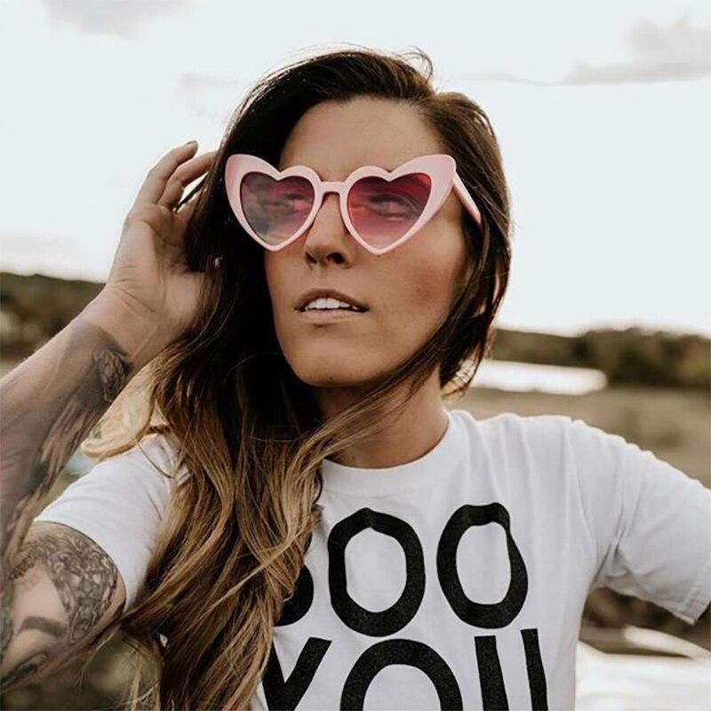 14ac64984b Detail Feedback Questions about VIVIBEE Pink Love Heart Shaped Sunglasses  Retro UV400 Women Fashion 2019 Glasses Vintage Female Cute Lolita Eyewear  Girls ...