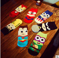 14 UNIDS = 7 pares 42, 43, 44 MARVEL Hierro Batman SpiderMan Capitán América Superman de dibujos animados de tobillo calcetines divertidos calcetines chaussette