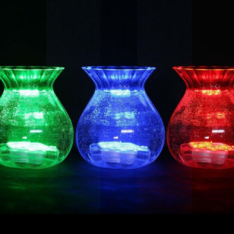 12st / lot Centerpiece Effient Design Vattentät LED Vase Light Base - Festlig belysning - Foto 5