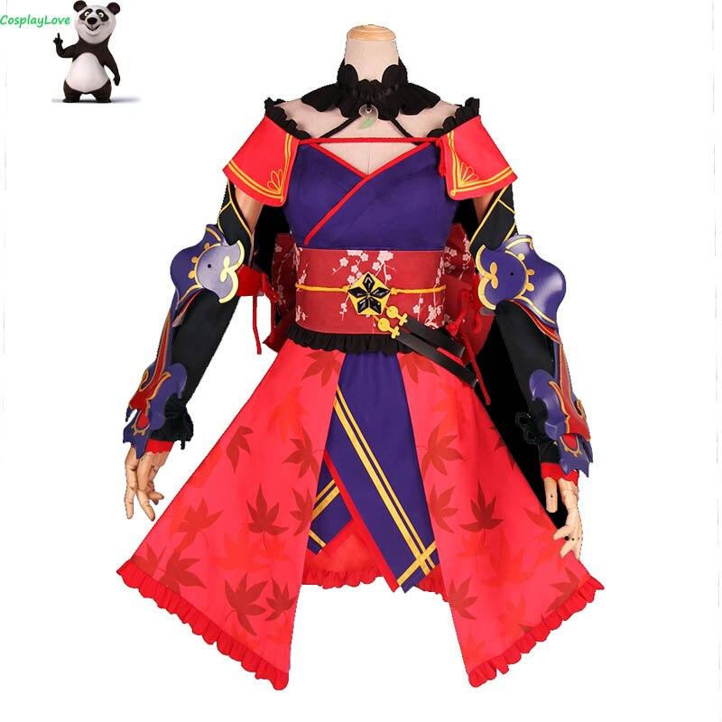 Fate Grand Order Saber Miyamoto Musashi Cosplay Costume Dress Custom-made For Christmas CosplayLove