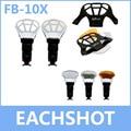 Enfoque fb-10, enfoque fb-10x flash de rebote reflector tarjeta difusor con 3 color reflector para canon nikon yongnuo flash speedlite