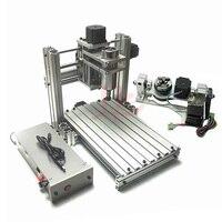USB Mach3 mini DIY cnc 3040 3 4 5 axis milling machine for wood PCB leather plastic paper hobbies diy