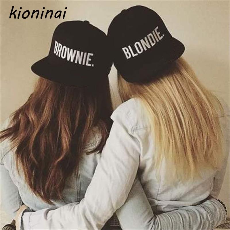 Kioninai 2017 BLONDIE BROWNIE Hot Sale (A Pair) Snapback s