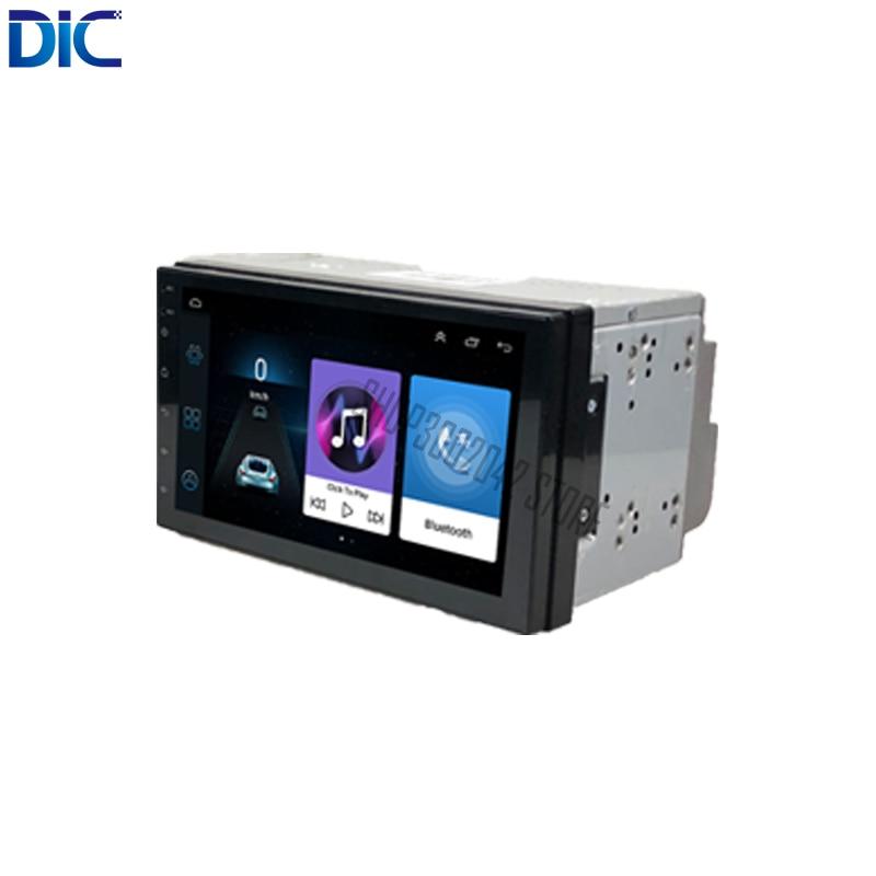 DLC Navigation GPS Car Player Android 8.1 Stereo Radio Bluetooth USB Mirror Link 7 Inch 2 Din Universal Rear Camera