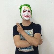 Movie Batman The Dark Knight Joker Cosplay Hoorible Latex Hood Mask Adult Halloween Horror Clown Cosplay Praty Accessories цена и фото