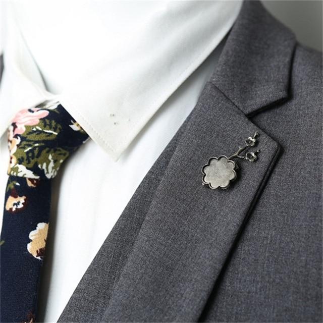 01c61229a0b Mdiger Vintage Brooches Unisex Collar Pins Flower Lapel Pin Brooch Pins Men  Retro Plum Tree Brooch