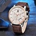 Benyar marca relógios homens moda casual aço inoxidável relógio de quartzo analógico relógio esportivo masculino famoso relógio novo relógio cronógrafo