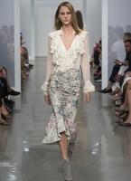 Для женщин оборки Кружевной Топ рюшами сетки шелковая блузка