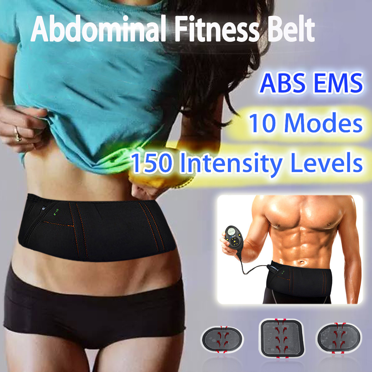 EMS Electric Slimming Belt Abdominal Muscle Lose Weight Fitness Massage Sway Vibration Belly Muscle Waist Trainer Stimulator kifit electric tummy abdominal slimming lose weight waist trainer fat belly burner fitness massage belt health care tool