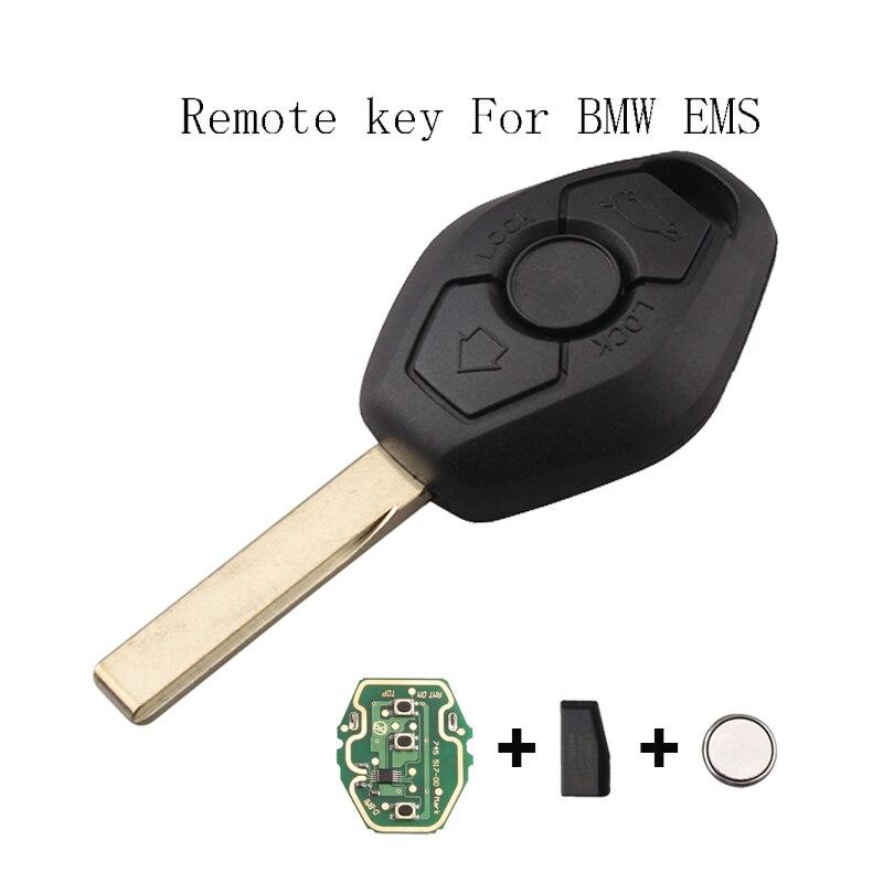 3 Buttons 433/315Mhz/ Car Remote Key Fob For BMW E46 E38 3 5 7 Series EWS System Car Key HU92 Blade Transmitter chip ID44