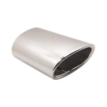 타원형 자동차 머플러 팁 파이프 긴 5.51 인치 트림 테일 튜브 bmw 318 자동차 액세서리 배기 어셈블리 스모그 공기 펌프 파이프