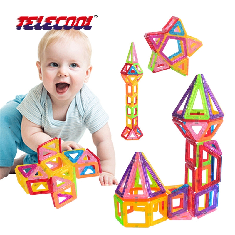 TELECOOL Magnetic Building Blocks Toys Mini 80/100 PCS DIY Set Inspire Kids Educational Construction Designer Toy велотренажер inspire ic1