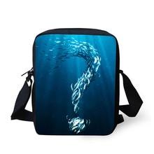 Купить с кэшбэком Cross Body Bag Fish Printing Messenger Bags for Men Women Hot Brand Small Cross Body Bags for Ladies Mens Travel Bags