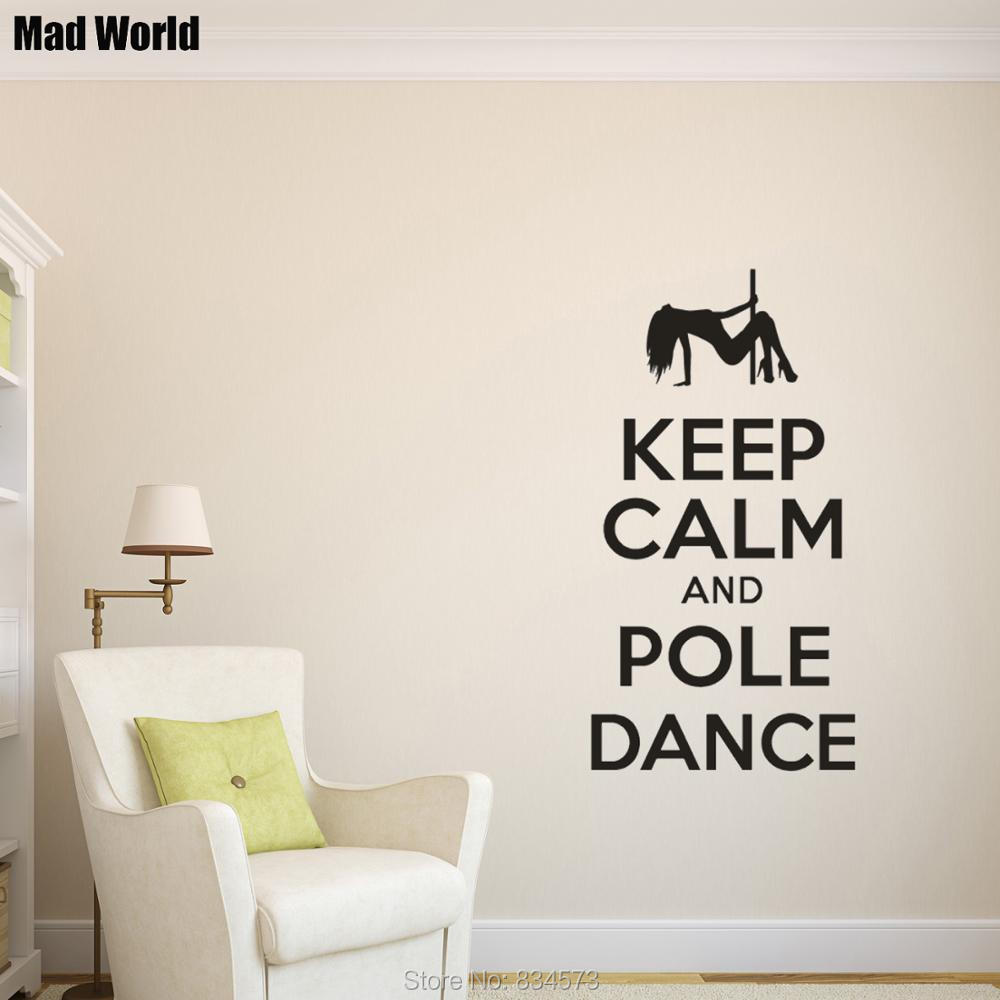 /'Keep Calm and Pole Dance/' Amazing Vinyl Wall Stickers High Quality Decal NEW