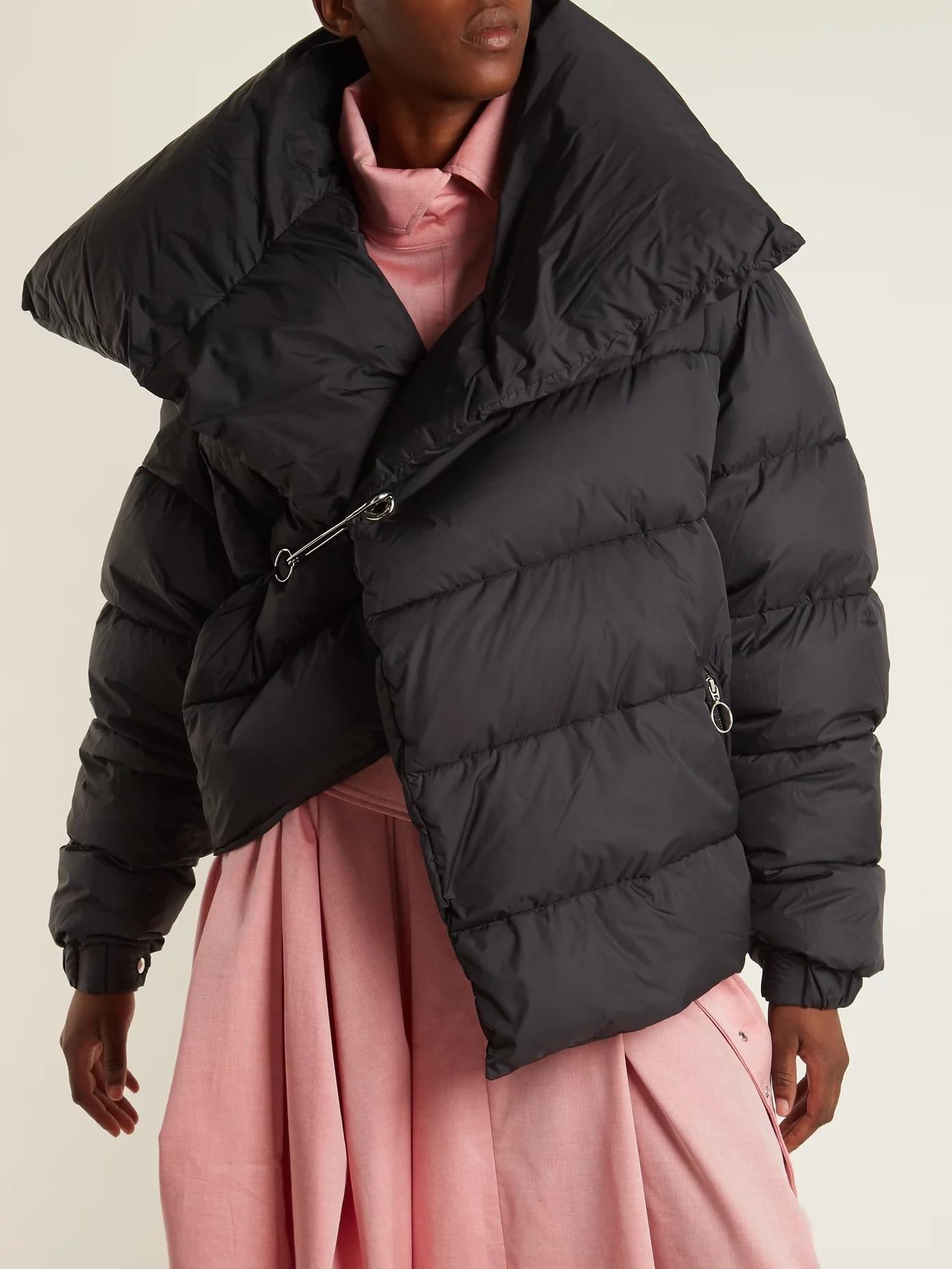 Puffy Fahion Irrégulière Aucun Manteau Automne Rembourré Court Noir Coton Survêtement Pardessus Slim Hight 2019 Chaud Bouton Qualité Hiver nw7Sqpxf0