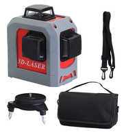 Professional 3D 12 lines laser level 360 Vertical And Horizontal Self-leveling Cross Line Red Beam nivel laser Leveling Tool