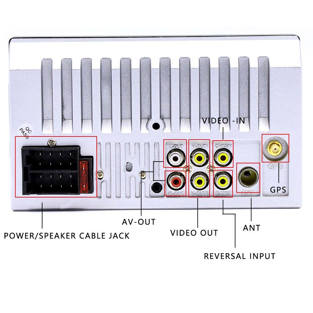 7018G 2 Din 7 pouces HD écran tactile autoradio multimédia lecteur MP5 Navigation GPS avec caméra et moyen orient cartes Bluetooth A - 5
