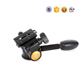 Handheld Three-dimensional DSLR Tripod Head Q08 12kg Load Damping Pan head with 1/4 Screw Quick Release Plate Camera Accessories