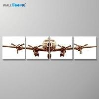 Duvar cooing 4 Adet/takım Uçak tuval boyama basit ve asil ev dekorasyon yapıt modern oturma odası sanat duvar resimleri