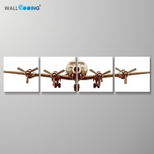 wall cooing 4Pcs/Set Airplane canvas painting simple and noble home decoration artwork modern living room art wall pictures