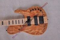 Trung Quốc mới firehawk OEM shop Electric guitar BASS 5 dây bass một mảnh cổ thông qua cơ thể EMS miễn phí vận chuyển