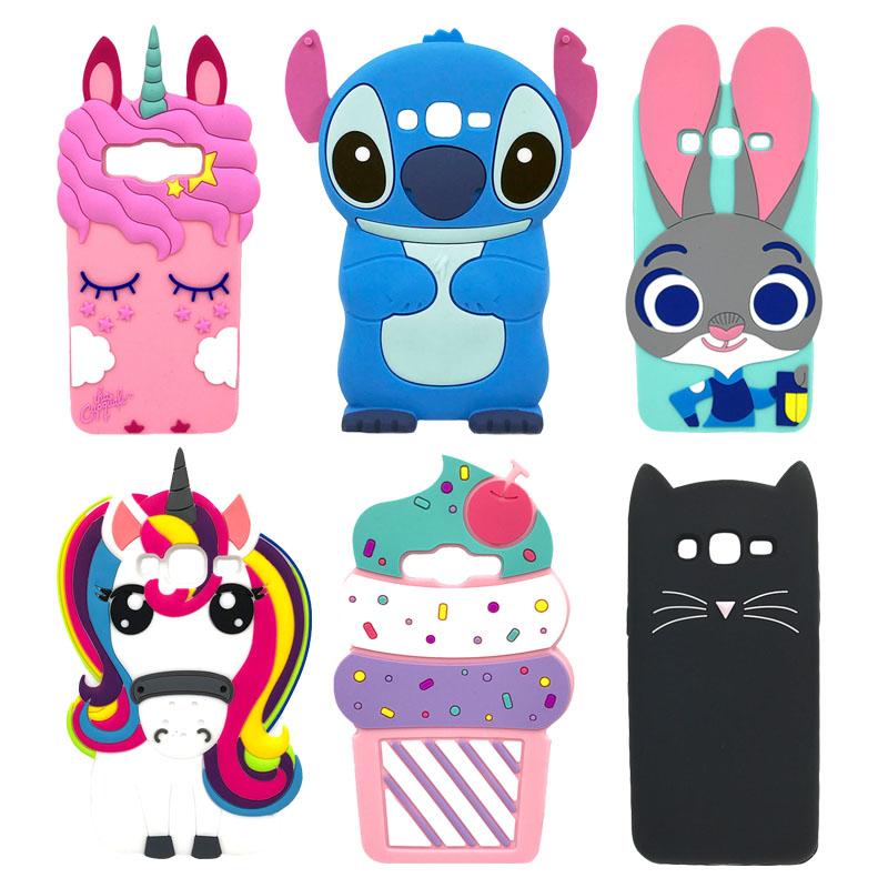 3D Cartoon Phone Case For <font><b>Samsung</b></font> <font><b>Galaxy</b></font> <font><b>Core</b></font> <font><b>Prime</b></font> G360 G3606 G3608 G3609 G361F <font><b>G360H</b></font> G360F LTE SM-G3606 G361H Silicone Cover image