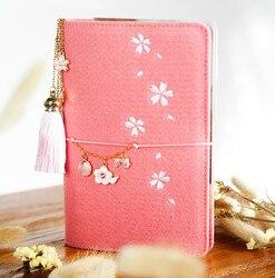 A5/6 Korea Cute Planner Notebook Kawaii Office Stationery Felt Notebook Personal Spiral Ring Binder Diary Journal Bullet Journal