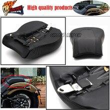 Rear Pillion Passenger Seat Fits fits for Harley Davidson Softail Fat Boy FLSTF 2008-2014