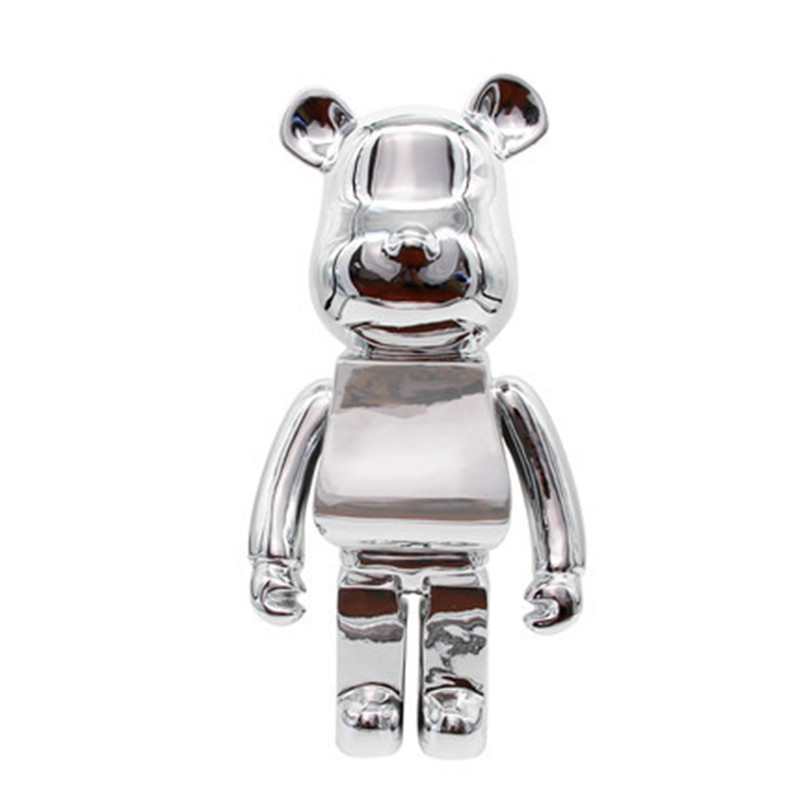 OriginalFake 1000% Be@rBrick Street Art Medicom Toy Gloomy Bear KAWS Baseman Toby PVC Action Figure Collection Model Toy G1206 2 colour outer space trophy electroplating kaws bape milo kabinett ver medicom toy pvc action figure collection model toy g690